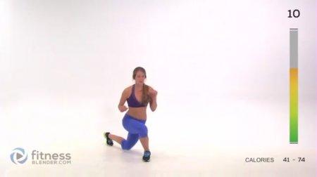 Интенсивная кардио тренировка бедер и ягодиц / Butt and Thigh HIIT Cardio Workout