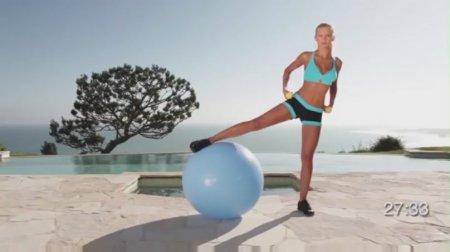 40 минут тренировки с фитболом / 40 min Beginner Total Body Stability Ball Workout