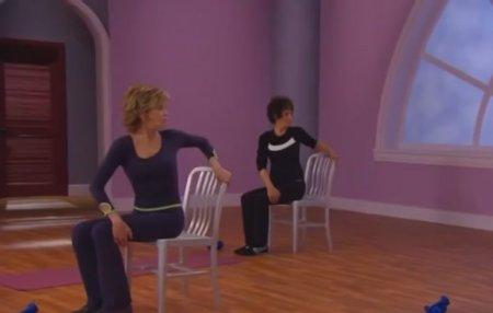 Тренировка для взрослых женщин с Джейн Фондой / Jane Fonda: Trim Tone & Flex Workout