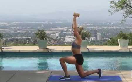 10-минутная тренировка тонизирующая мышцы ног и рук /