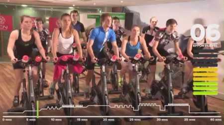 45-минутная тренировка на велотренажере / 40 Minute Intense Cycle Training Workout