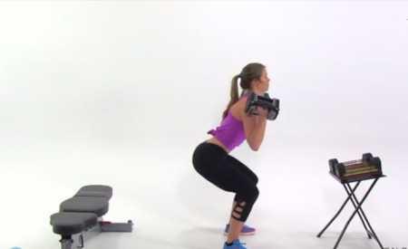"""Лестничная"" силовая тренировка ног / Descending Ladder Butt and Thigh Workout with Pilates Burnout"